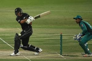 Ross Taylor of New Zealand bats during the 1st One Day International match between Pakistan and New Zealand.