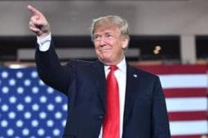 """US President Donald Trump arrives to speak during a """"Make America Great Again"""" rally, October 10. In the months ahead, Trump will have far more challenges to face than in the previous two years."""
