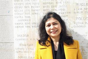 Author and journalist Shrabani Basu has written a book on World War 1 titled 'For King and Another Country – Indian Soldiers on the Western Front 1914 -18.'