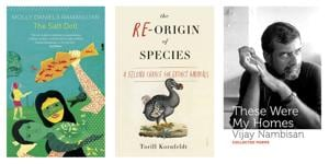 This week's selection of good reads includes a tale that explores identity and separation, a volume that wonders about the reintroduction of extinct animals, and a book of poetry by a distinctive Indian English voice.
