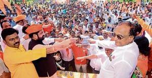 Convenors of Maharashtra Kranti Sena taking pledge in the city on Thursday