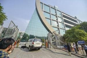 An outside view of the CBI headquarters, in New Delhi October 24.