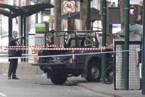 Australian police on Friday said a Somali man who stabbed three people in the city of Melbourne on Friday drove a car laden with gas cylinders which caught fire.