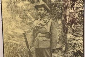Darwan Singh Negi fought in the trenches in the Battle of Festubert..