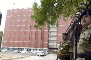 A view office of Election Commission of India at Nirvachan Sadan in New Delhi.