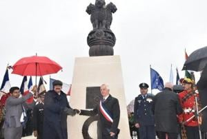 Vice President M Venkaiah Naidu on Saturday inaugurated the first India-bulit war memorial in northern France to pay tribute to thousands of Indian soldiers who fought selflessly and made supreme sacrifices during the World War I.