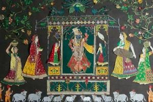Sanjhi is an art form rooted in the folk culture of Mathura, Uttar Pradesh, and later became an integral part of Vaishnavite traditions.