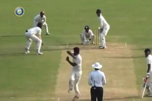 The umpire signalled a dead ball following the 360 degree turn.