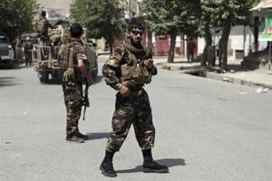 Afghan security forces arrive at the site of an attack by gunmen, in Kabul, Afghanistan on August 16.