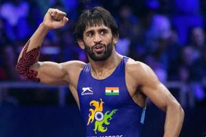 Budapest: Indian wrestler Bajrang Punia reacts after winning the World Championship 2018 semifinal match in Budapest, Sunday, Oct 21, 2018. Punia will fight Takuto Otoguro from Japan in the gold medal match.