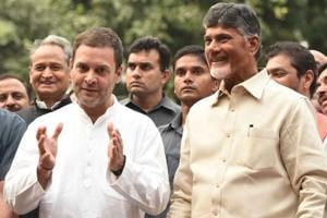 After Congress party president Rahul Gandhi and Chief Minister of Andhra Pradesh N. Chandrababu Naidu held talks on jointly fighting BJP, several Congress leaders in Andhra Pradesh quit the party on fears that the Congress and TDP will tie-up in the state too  (File photo)