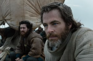 Chris Pine and Aaron Taylor-Johnson in a still from Netflix's Outlaw King.