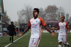 Felix Chidi scored a brace to help Neroca FCbeat Real Kashmir.
