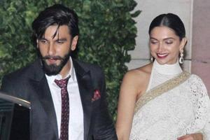 Deepika Padukone and Ranveer Singh leave a party hand-in-hand in 2016.