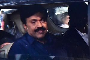 Mining Baron G Janardhan Reddy arrives at the CCB office in Bengaluru on Saturday, Nov 10,2018 .