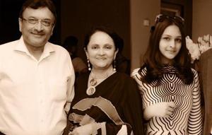 Kalpana Shah (second from left) with late husband Pankaj Shah (extreme left), daughter Sanjana Shah (second from right) and son Kalpana Shah.