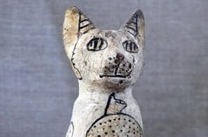 Ancient excavations have found a total of seven tombs that contained mummified cats and scarab beetles