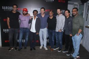Michael Pena, Saif Ali Khan, Anurag Kashyap, Nawazuddin Siddiqui and Diego Luna at the Netflix event in Mumbai.