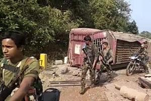 Two Naxals were gunned down Monday evening in an encounter with security forces in Sukma district of Chhattisgarh, police said.
