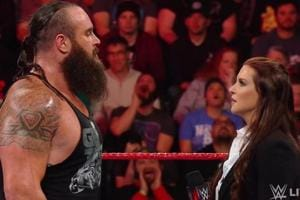 Brawn Strowman and Stephanie McMahon during the episode of WWE Raw.