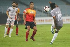 East Bengal were defeated by Chennai City FCin the I-League.