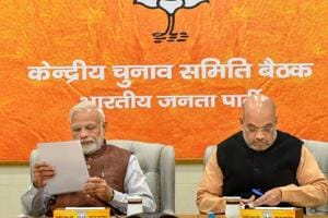 Prime Minister Narendra Modi and BJP President Amit Shah during the party