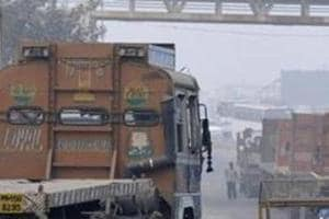 Over 1,000 trucks are parked at the borders of Delhi for the past five days, as they were not allowed to enter the city due to the ban that came into effect on November 8.