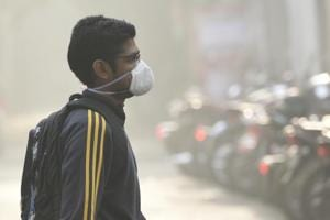 Pollution levels in Delhi came down to 'very poor' levels on Monday after hovering in the 'severe' zone over the past three days.