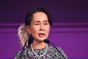 Amnesty International on Monday stripped Aung San Suu Kyi of its highest honour - Ambassador of Conscience .