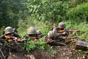 The unidentified intruder was killed by an ambush team of the Army at around 1.50 pm, defence spokesman Lt Col Devender Anand said.