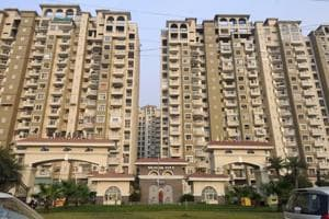 A view of Amrapali Silicon City at sector 76, in Noida