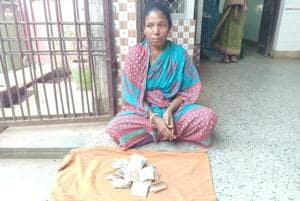 When Minati Munda (pictured) wanted to take her husband's body back to Keonjhar, hospital authorities allegedly demanded Rs 300 as charges for hiring the hearse, which is usually free under the state government's Mahaprayan scheme.