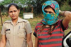 Shefali Bhasin Tewari (in striped Tshirt) was arrested on November 13, 2018,  for allegedly conspiring to kill the wife of her lover.