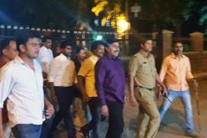 G Janardhan Reddy comes out of Central Prison after being granted bail on a bond of Rs 1 lakh.