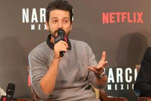Mumbai: Actro Diego Luna during a special panel discussion hosted by Netflix in Mumbai.