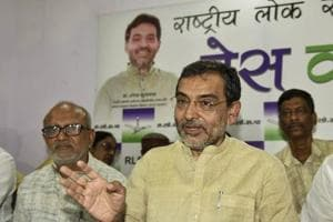 Rashtriya Lok Samata Party (RLSP) leader Upendra Kushwaha hit out at the Nitish Kumar government after another party leader was shot dead in the state. (File photo)