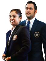 Left: Mithali Raj, captain of the Indian women's cricket team; MS Dhoni, former captain of the Indian cricket team