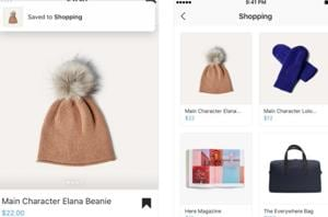 Instagram lets users save products they like for shopping.