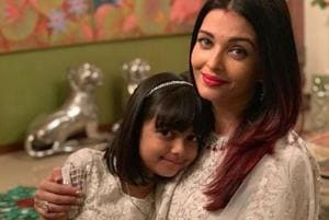 Aishwarya Rai with her daughter Aaradhya who turns seven on Friday.
