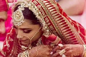 Deepika Padukone was stunning in a red Sabyasachi lehenga at her Sindhi wedding with Ranveer Singh in Italy.