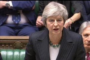 A still image from video footage shows Britain