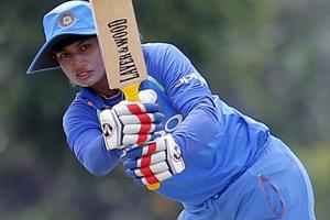 Mithali Raj in action during the ICCWomen's World T20 match against Ireland.