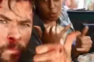 Chris Hemsworth has been shooting in India.
