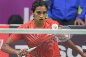 PV Sindhu plays against Chinese (TPE) player Tai Tzu Ying in the women
