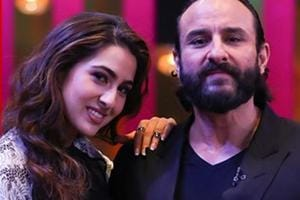 Saif Ali Khan and Sara Ali Khan in a promotional image from Sunday's Koffee with Karan episode.