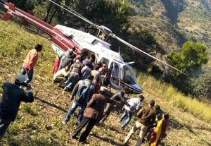 At least 12 people were killed and 13 injured when the bus in which they were travelling fell into a 150-metre-deep gorge in Uttarkashi district on Sunday;rescue operation is underway.
