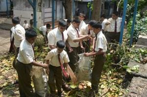The Sacred Heart School in Varap, Kalyan, has a zero-waste policy and composts 1,500kg of wet waste (consisting of monthly kitchen and garden discards).