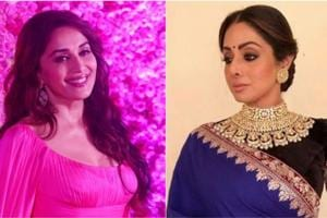 Madhuri Dixit performed to Sridevi's Hawa Hawai at the Lux Golden Rose Awards.