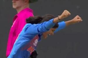 Radha Yadav took two wickets in India's last Group B game against Australia.