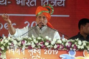 Union home minister Rajnath Singh Monday reviewed security situation in the country, particularly in Punjab.